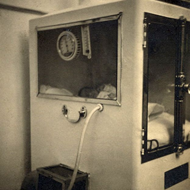 One of Dr Couney's incubators
