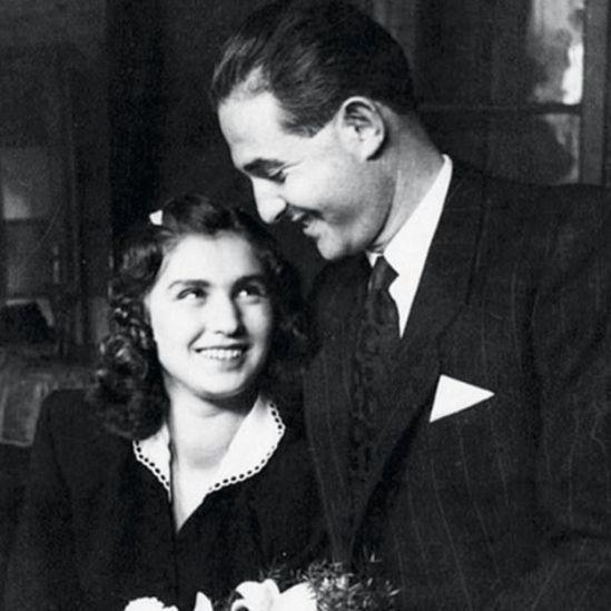 Edith no dia do seu casamento, em 1946