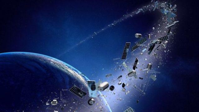 Imagem de lixo em órbita