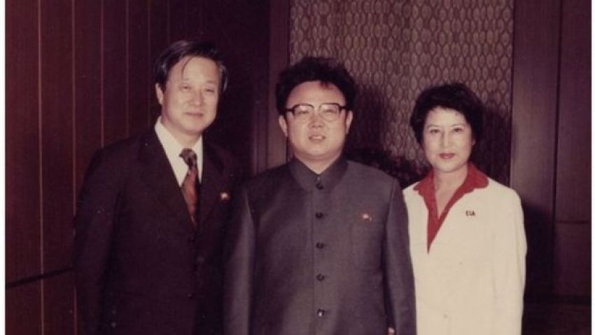 """Screenshot from """"North Korean Kidnap - The Lovers and the Despot"""" showing Shin, Kim and Choi (L to R)"""
