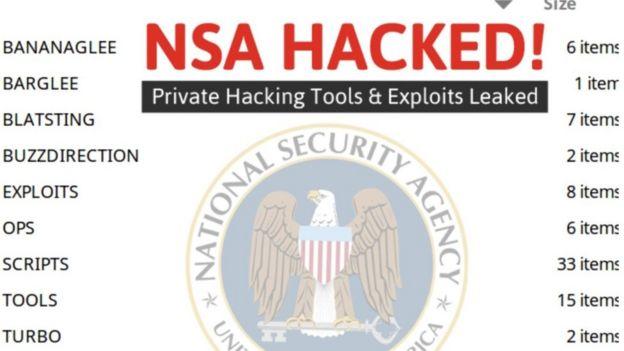 Archivos y herramientas de espionaje de la Agencia de Seguridad de Estados Unidos a la venta en internet.