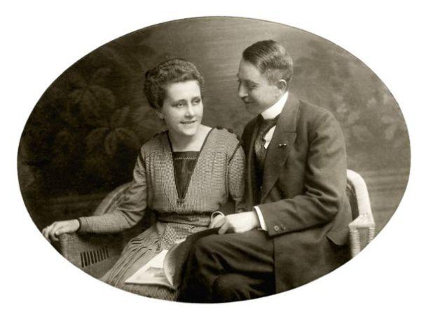 Foto de boda de Karl Niemann y su mujer.