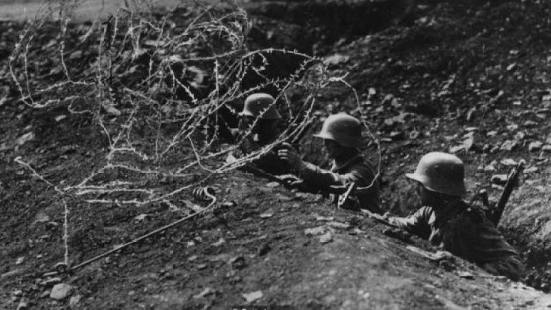 Soldados en las trincheras