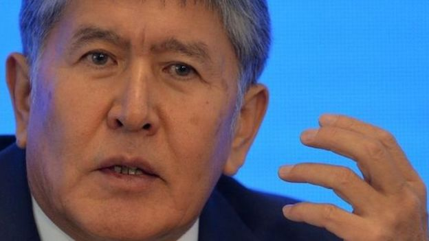 Kırgız Cumhurbaşkanı Atambayev konuşuyor.