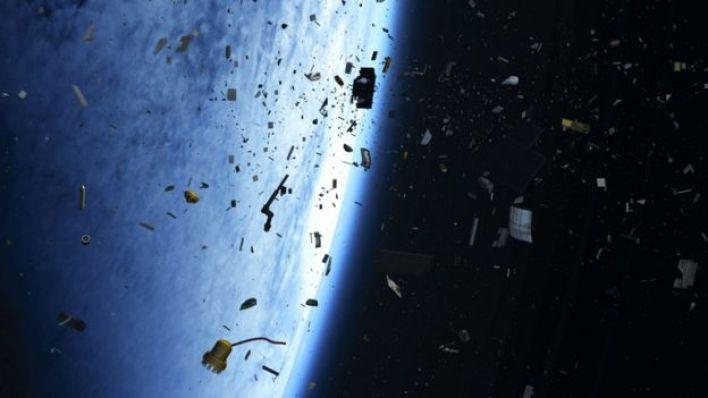 Ilustração mostra detritos espaciais