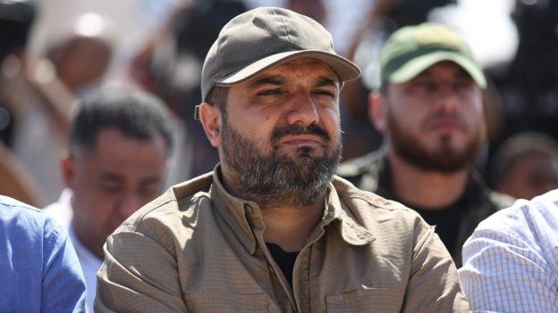 File photo showing Palestinian Islamic Jihad leader Baha Abu al-Ata at a rally in Gaza City (21 October 2016)