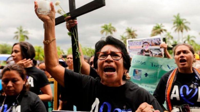 Madres protestando contra el gobierno de Nicaragua