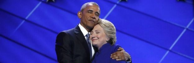 Image result for obama supports hillary