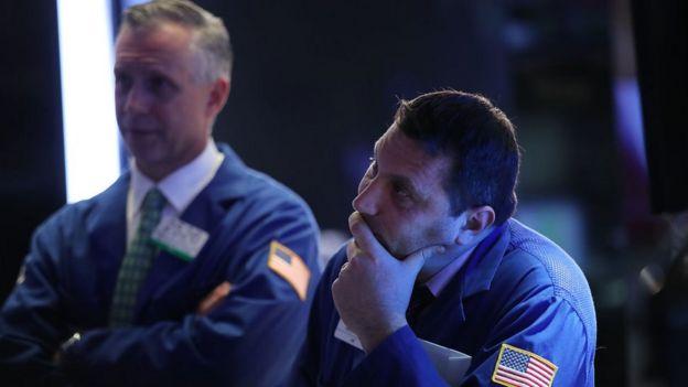 Operadores na Bolsa de Nova York