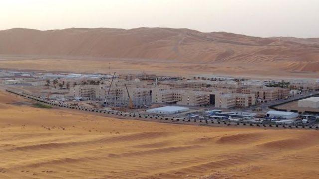 Planta de producción de petróleo de Shaybah en Arabia Saudita.