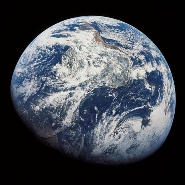 Foto de la Tierra captada desde el Apollo 8