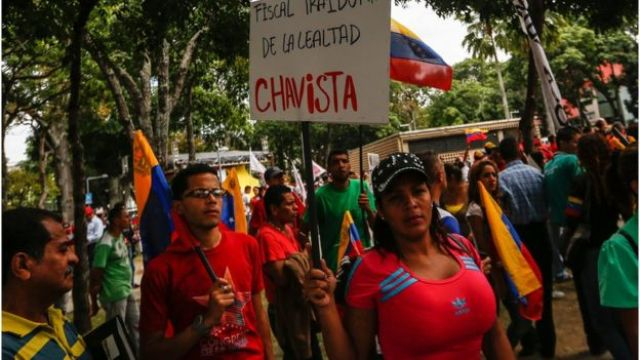 Protesta contra la fiscal general Luisa Ortega