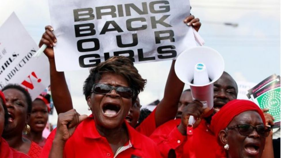 Manifestantes de Bring Back Our Girls, campaña en Nigeria.