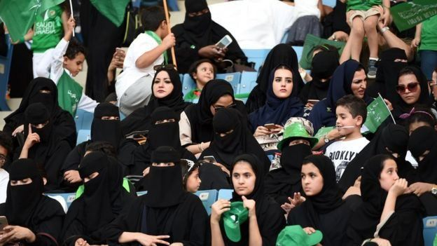 Saudi women were recently allowed inside King Fahd Stadium to celebrate for the first time