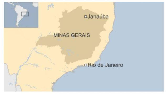 Map of Minas Gerais, Brazil