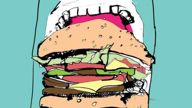 Ilustração de pessoa comendo