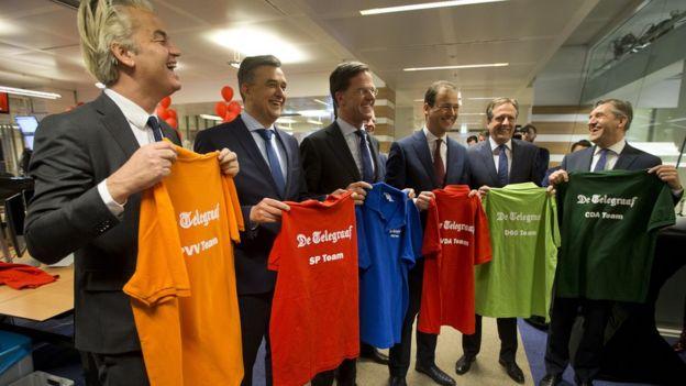 Candidatos elecciones holandesas