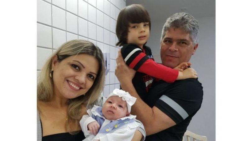 Liz com a família: Para a gaúcha, parto normal foi como uma