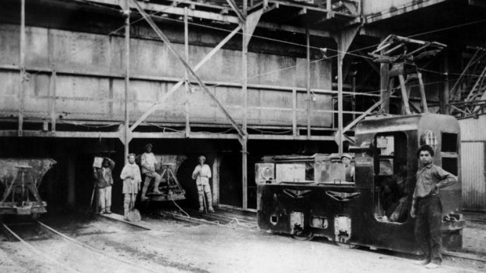 Planta salitrera en Chile en 1930