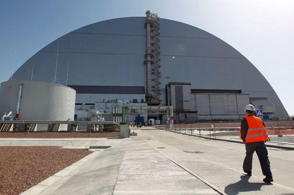 Imagen del reactor de Chernobil en la actualidad.