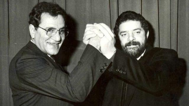 José Paulo Bisol e Lula em 1989