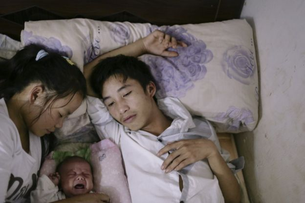 Picture of a teenage married couple by Muyi Xiao