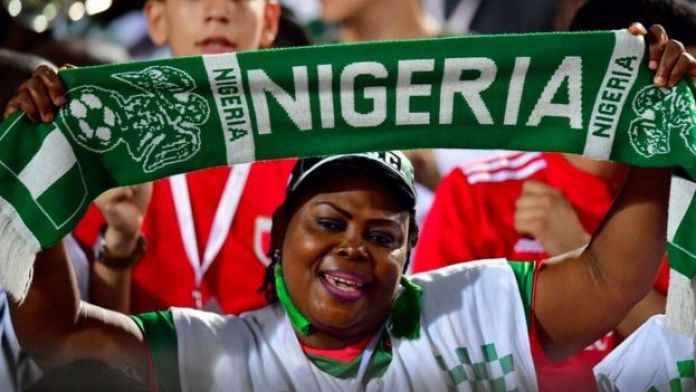 Une fan du Nigeria en Egypte, CAN 2019.