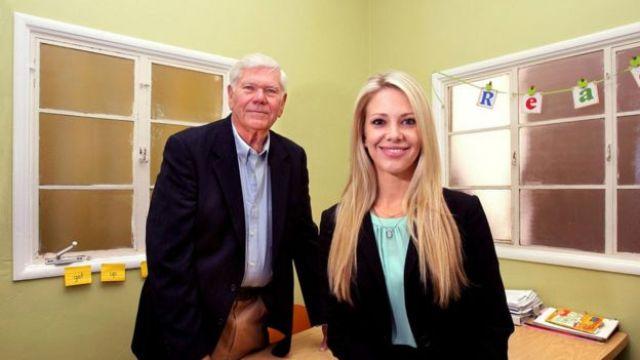 John Corcoran and his granddaughter