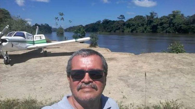 Jeziel Barbosa de Moura, poco antes del despegue.