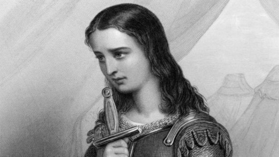 Grabado de Juana de Arco