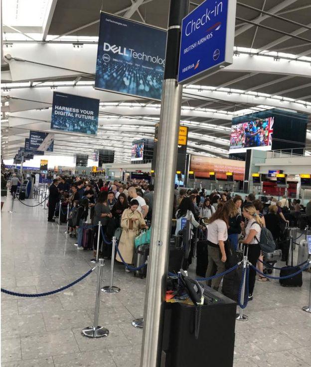 queues at Heathrow