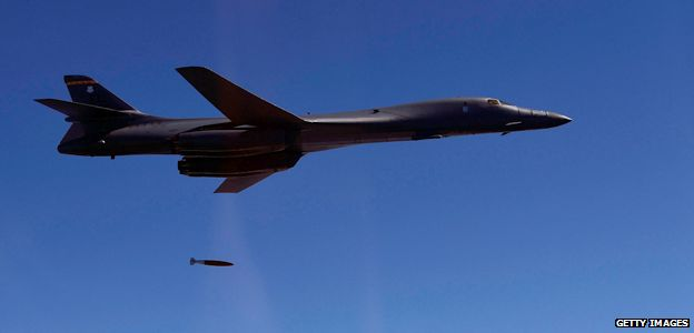 Un bombardero US B-1B Spirit.
