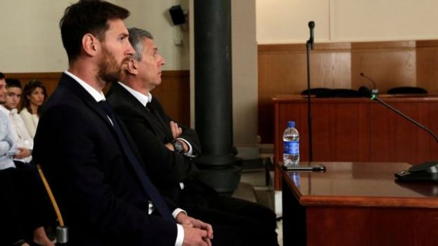 Messi and father in court from the side