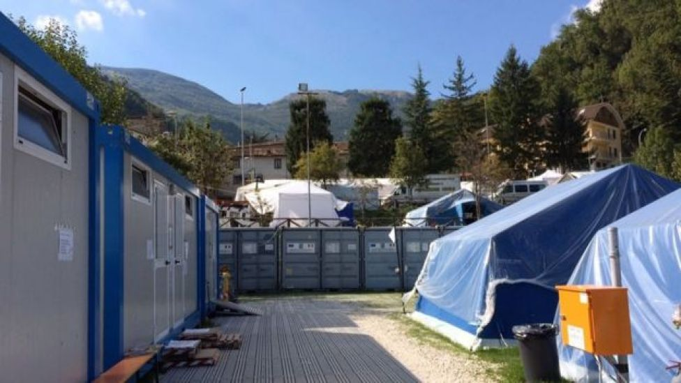 The camp at Arquata del Tronto, 26 September 2016