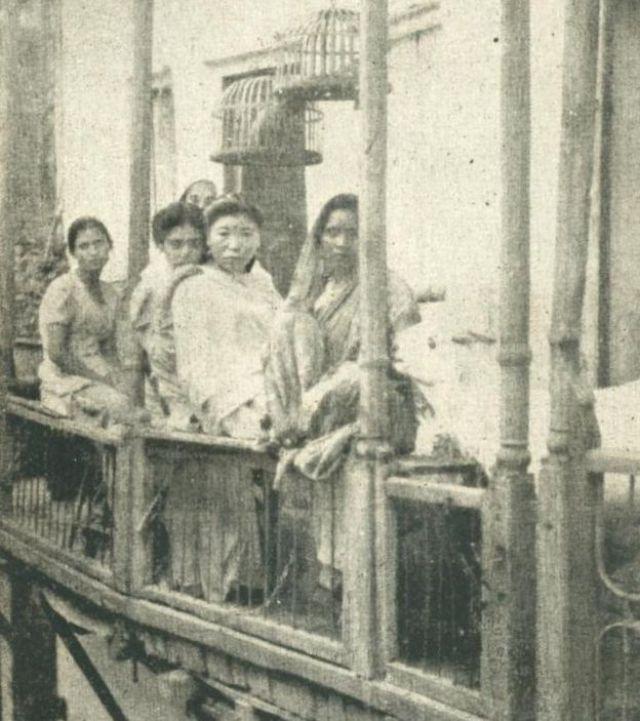 Prostitutas en Bombay, imagen de archivo.