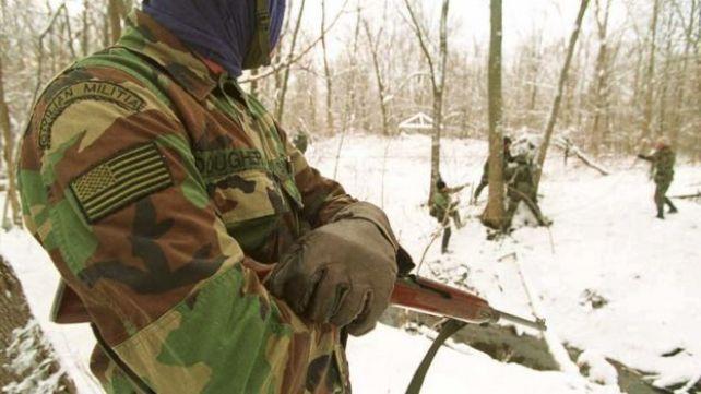 Un miembro de la milicia de Michigan
