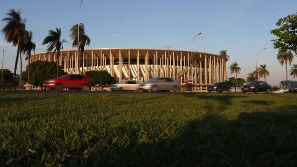Estádio Mané Garrincha, uma das sedes da Copa de 2014, não saíram do papel