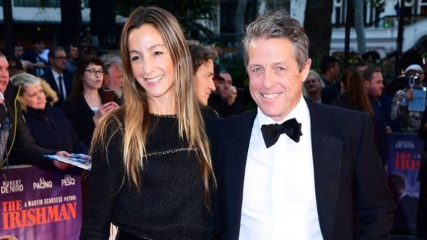 Anna Elisabet Eberstein and Hugh Grant attending the Closing Gala and International premiere of The Irishman, held as part of the BFI London Film Festival 2019