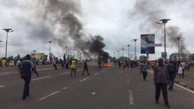 Moja ya maandamano Jamhuri ya kidemokrasia ya Kongo