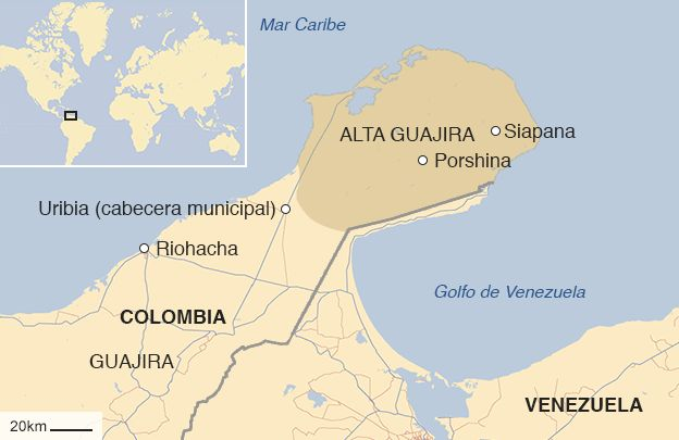 mapa de La Guajira