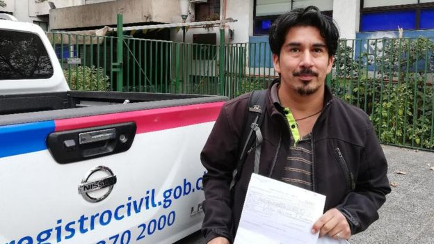 Alejandro Quezada was adopted abroad after being taken from his Chilean birth mother