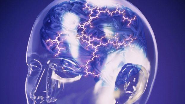 Imagen computerizada abstracta de una tormenta eléctrica