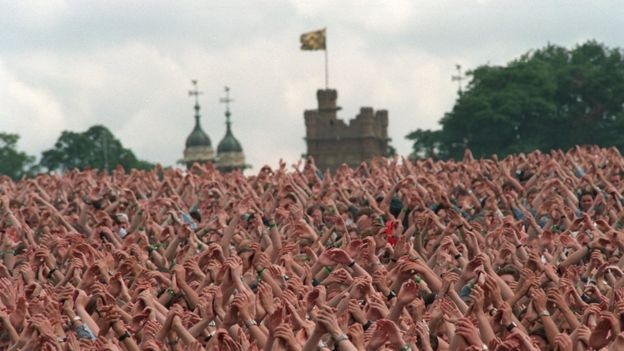The crowd at Knebworth
