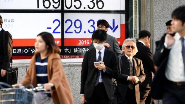 Personas en Japón.