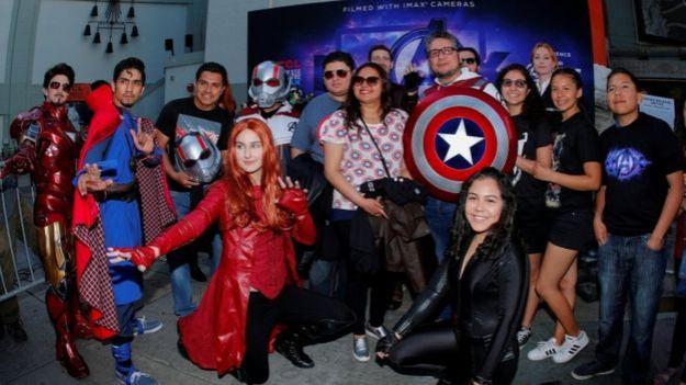 Fanáticos de Avengers.