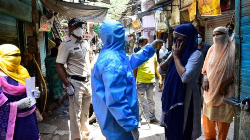 Doctors of Indian Medical Association conducted door to door screening camp, during nationwide lockdown due to COVID 19 pandemic at Dharavi, on April 11, 2020 in Mumbai, India
