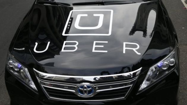 Uber branded car