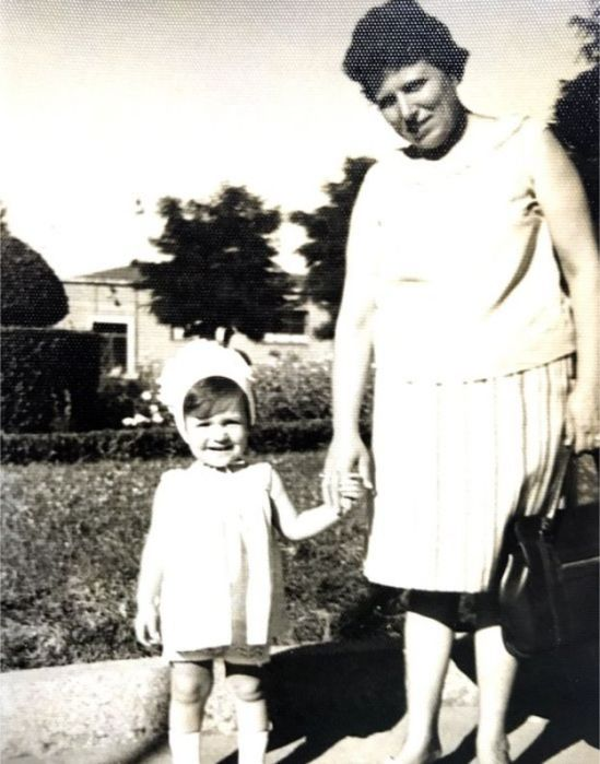 Young Inés Madrigal with her adoptive mother, Inés Pérez