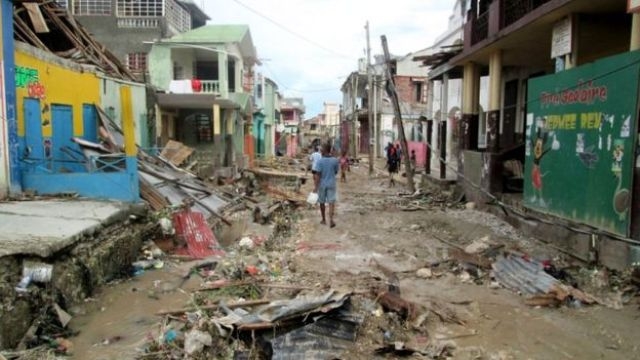 The town of Jeremie was among the worst hit