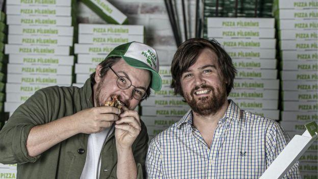 James y Thom Elliot, fundadores de Pizza Pilgrims